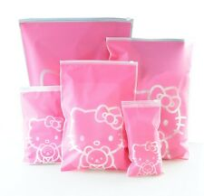 Hello Kitty Travel Accessory Pouch Pink Reusable Storage Bags 5 Collectible S-XL