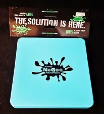 "1 Blue Nogoo Non-Stick Silicone ""Slab-In-It"" 7""x7"" Square Tray Sealable Lid"