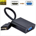 Black 1* 1080P HDMI Male to VGA Female Video Converter Adapter Cable For PC DVD
