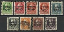 GERMANY / BAVARIA 1919 2nd FREE STATE ISSUES USED