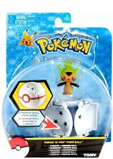 NEW Authentic 2016 Tomy Pokemon Throw 'n' Pop Poke Ball - CHESPIN + PREMIER BALL