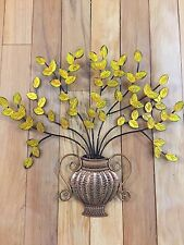 Autumn Harvest Leaf Boutique Decorative Metal Wall Art Coppery Finish Decor