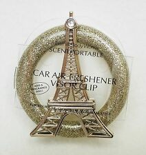 Bath Body Works PARIS EIFFEL TOWER Scentportable Unit Visor Clip Car Freshener