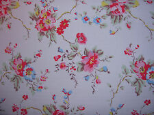 Cath Kidston summer blossom  50cm / 100cm WIDE lightweight cotton fabric new