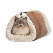 2 In 1 Self Heating Pet Tunnel Bed Mat Cat Dog Xmas Portable Warm High Quality