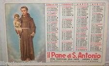 VECCHIO CALENDARIETTO IL PANE DI SANT ANTONIO CONVENTO SANTA CROCE 1959 BOLOGNA