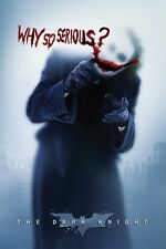 Joker Batman Why So Serious Heath Ledger Dark Knight Poster Print New 24x36