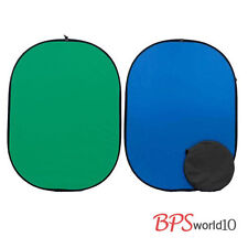 BPS Green / Blue Popup Chroma Key Backdrop - Reversible Studio Screen Background