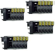 20 schwarz für Brother DCP165C 195C MFC5490CN MFC5890cn MFC6490cw LC980 LC1100
