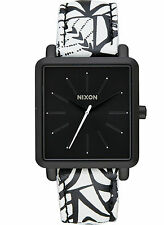 NEW Nixon A472 2218 K Squared Black Women's Leather Strap Watch