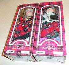 (2) Rare LEONARDO COLLECTION Collector's Porcelain Scottish Dolls NIB
