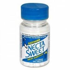 Necta Sweet Saccharin Sugar Substitute 0.5 Grain Tablets 500 ea (Pack of 2)