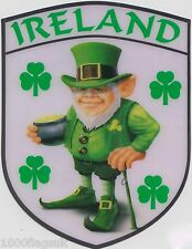 Ireland Irish leprechaun Flag Vinyl Car Window Sticker