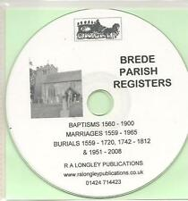 Brede, Sussex, Parish Registers 1560-2008 CD