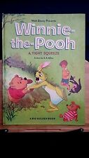 Vintage children's HC Big Golden book Winnie the Pooh Tight Squeeze Disney 1966