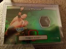 2010 Topps WWE Platinum Relic Swatch Event Worn Tyson Kidd Green Color 168/399