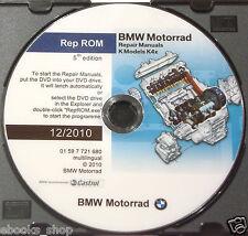 DVD MANUALE OFFICINA REPROM K4x WORKSHOP BMW K-1200-K-1300-S-R-GT - Ed.5^ 2010