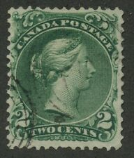 Canada 1864 Large Queen 2c green 'Major Re-entry POS 7' variety #24v VF used