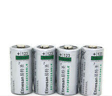 4X 700mAh 3v CR123A 2/3A rechargeable LiFePO4 lithium flashlight,camear battery