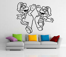 Super Mario Luigi Wall Decal Video Game Vinyl Sticker Nursery Art Decor Mural 9z
