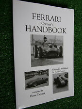 1948-1958 FERRARI 125 166 1500 195 212 275 340  750 Owners Handbook Users Manual