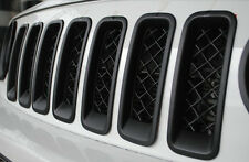 For Jeep Patriot 2011 - 2016 Black Front Grill Inserts Decors Trim Rings Cover