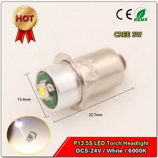 1X CREE 3W Wattage LED light bulb P13.5s bulb for Ryobi P704 flashlight DC5-24V