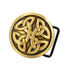Bronze Celtic Cross Knot Mystic Circle Metal Belt Buckle Irish Triquetra Go