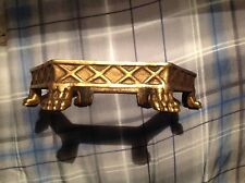 Vintage Hexagon BRASS CLAW Feet CAST METAL VASE Pot Plant STAND or HOLDER