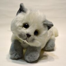 Relaxing Cat Plush (Blue Pointed White) cute & realistic