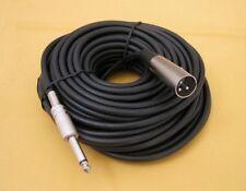 50Ft PREMIUM XLR 3Pin MALE to 1/4 MONO Plug Mic Microphone Audio Cord Cable 50'