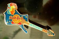 HRC Hard Rock Cafe Cancun Blue Iceman Guitar Mayan Head Massiv Messing XL Fotos