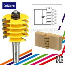 "Drippro 1/2"" Shank 3Flute Box Finger Joint Router Bit Woodworking Cutter 5 Blade"