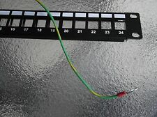 "Blank 24 Port Patch Panel Rackmount RJ11,RJ12,RJ45 -1RU x 19"" SHIELDED Ground UL"