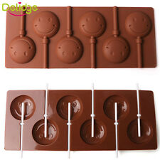 Smile Lips Lollipop Cake Mold Flexible Silicone Mould With Sticks