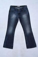 Haut femme Levis 572 blue jeans denim bootcut délavé languette rouge stretch W31 L32 uk 14
