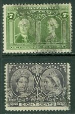 CANADA : 1897-1905. Scott #56, 100 Used. Both Sound. Catalog $165.00.