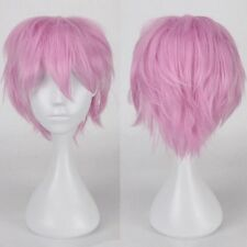 Fashion Short Full Wig Cosplay Party Daily Dress Synthetic Unisex Adjustable S20