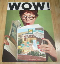 Old 1960's - S&H GREEN STAMP - Advertising - STORE POSTER - IDEABOOK WOW!