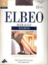 ELBEO - Mirage Light Support Tights  - 15D Barely Black - Size Small  BNIP