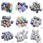 Lots Mix Colour Faceted Lampwork Murano Glass European Beads for Charm Bracelet
