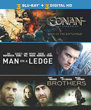 Conan the Barbarian, Man on a Ledge, Brothers (Blu-ray Disc, 2014) 3 Movies Disc