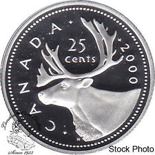 Canada 2000 Silver 25 Cents Proof Heavy Cameo