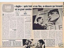 Coupure de presse Clipping 1980 Fernandel Orane Demazis dans Angèle (2 pages)