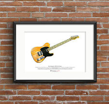 Bruce Springsteen's 1950's Fender Esquire ART POSTER A3 size