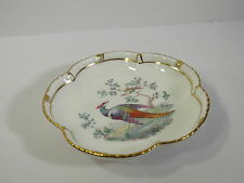 RARE ROYAL CROWN DERBY 5-LOBED PORCELAIN DISH - LOWESTOFT(?)  PHEASANT PATTERN