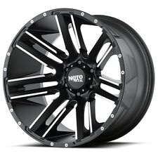 20 Inch Black Wheels Rims LIFTED Jeep Wrangler JK Moto Metal MO978 Set of 5 FIVE