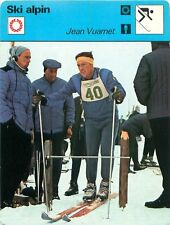 FICHE CARD : Jean Vuarnet FRANCE  Alpine skiing SKI ALPIN 70s