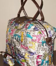 Cat Print Travel Bag/Holdall and Matching Purse