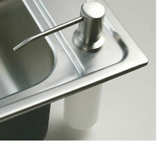 Brushed Nickel Touch Soap Dish Kitchen Deck Mounted Liquid Soap Dispenser 220ml